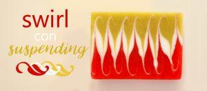 Jabón swirl kiwi-sandía