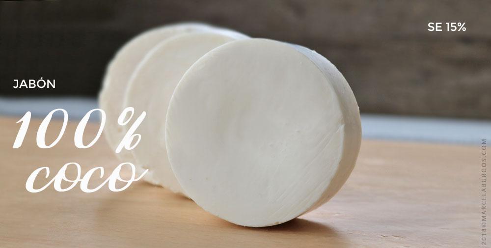 Jabón 100% de coco virgen