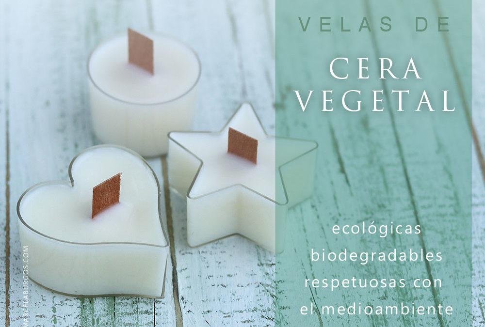Vela ecológica de cera vegetal